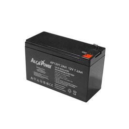 Batteria ricaricabile al piombo  12V   7,2 Ah  AGM   ALCAPOWER