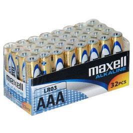32 pile  AAA ministilo alcaline MAXELL