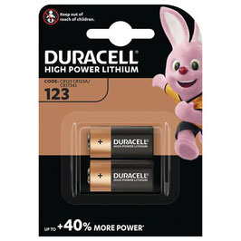 PILE LITIO CR123 3V   (CR17345)  DURACELL