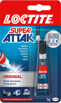 Tubetto  3 gr  colla  SUPER ATTAK ORIGINAL