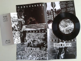 "Concussive/Scum Human - split 7"" - limited to 100 version"