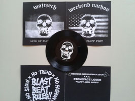 "Weekend Nachos​/​Wojczech - split 7"" - limited to 50 release gig edition -"