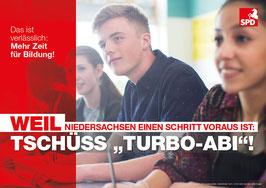 """Schaukastenplakat """"Turbo-Abi"""""""