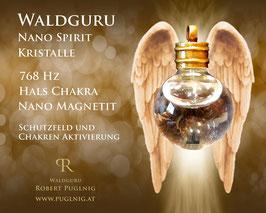 Magnetit Spirit Kristalle - Anhänger Kugel - 768 Hz Hals Chakra