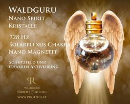 Magnetit Spirit Kristalle - Anhänger Kugel - 728 Hz Solarplexus Chakra