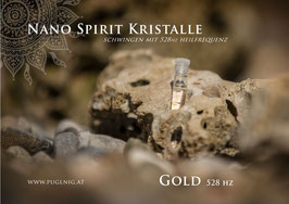 Nano Gold Spirit Kristalle - in 1,5 ml Phiole - 639 Hz