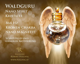 Magnetit Spirit Kristalle - Anhänger Kugel - 864 Hz Kronen Chakra