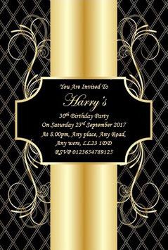 Personalised Birthday Invitations ~ Invite with envelopes ANY AGE, Ref BG8