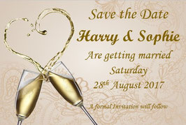 Save the Date or Save the Evening Ref BHCG