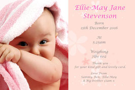 Baby Announcement cards Pink Ref ACFP