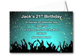 Birthday party invitation Personalised ANY AGE CAN BE DONE BD77