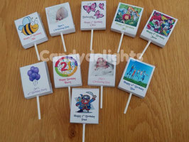 stunning personalised Lollipop wrappers.