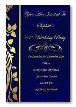 Personalised Birthday Invitations ~ Invite with envelopes ANY AGE, Ref BD83