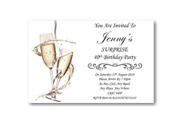 Personalised Surprise Birthday Party Invitations Ref BD32