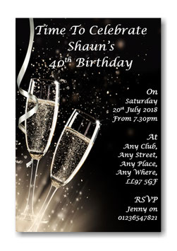 Personalised Birthday Party Invitations Ref BD23