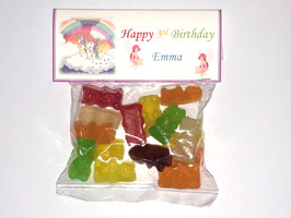 Unicorn Rainbow Sweet WRAPPERS Personalised Ref SW51