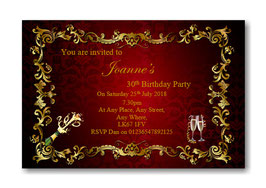 Personalised Birthday Party Invitations Ref BD16