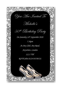 Personalised Birthday Invitations ~ Invite with envelopes ANY AGE, Ref B60