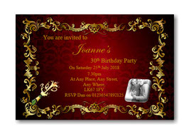 Personalised Birthday Party Invitations Ref BD18