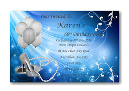Personalised Birthday Invitations ~ Invite with envelopes ANY AGE, Ref B99