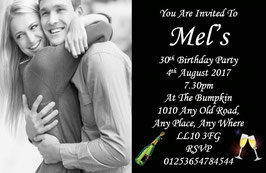 Personalised Birthday Invitations ~ Invite with envelopes ANY AGE CAN BE DONE, Ref BD17