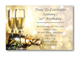 Personalised Birthday Party Invitations Ref BD30