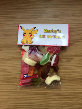 Pokermon Sweet WRAPPERS Personalised Ref SWA5