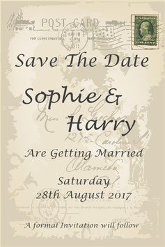 Save the Date or Save the Evening Ref SD STAMP