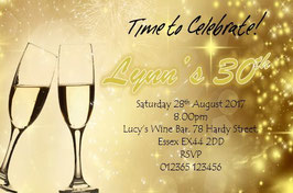 Personalised Birthday Invitations ~ Invite with envelopes ANY AGE CAN BE DONE, Ref B105