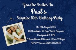 Personalised Surprise Birthday Invitations ~ Invite with envelopes ANY AGE, Ref AD1