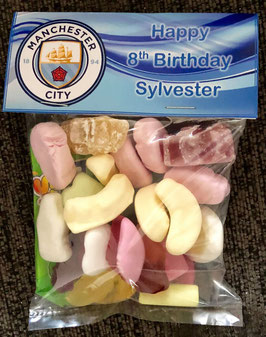 Manchester City FC Sweet WRAPPERS Personalised Ref SW41