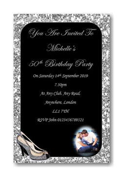 Personalised Birthday Invitations ~ Invite with envelopes ANY AGE, Ref B59