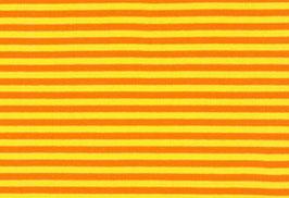 Strickbündchen kbA gelb-orange