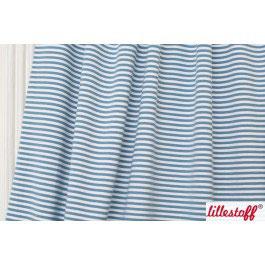 Jersey Hasenringel Ringeljersey blau weiss