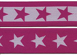 Elastikband Stars pink weiss