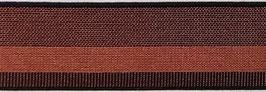 Elastisches Gurtband Kupfer/schwarz