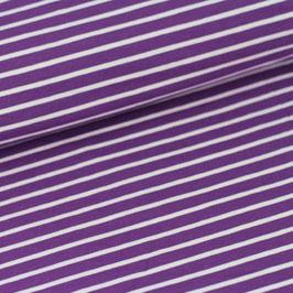 Streifen lilla weiss