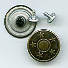 Jeansknopf Metall Sterne