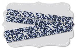 Schregband ornamente blau
