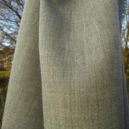 Leinen Chambray mit Wolle grün nature