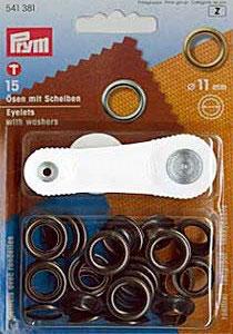 Ösen und scheiben Messing 11mm