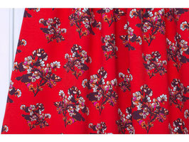Sommersweat Fiori red