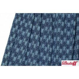 Jersey Katzentritt blau / blau