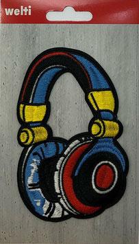 Flick aufnäher Kopfhörer