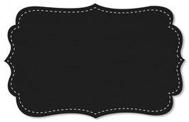 Gabardine Uni jet black
