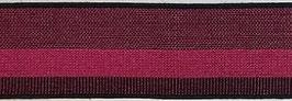 Elastisches Gurtband Pink/schwarz