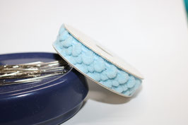Pompon band mini hellblau