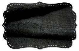 Doppel-Musseline uni black