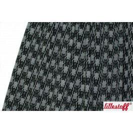 Jersey Katzentritt schwarz / grau