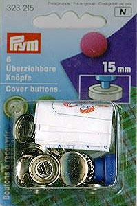 Überziehbare Knöpf 15mm